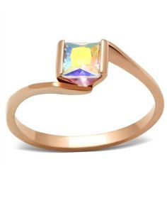 REPIN FOR A CHANCE TO WIN THIS RING - Rinba Ring - 14k Rose Gold - 0.5 Ct Rainbow Effect Crystal Women Ring - Only $14! ( MSRP: $ 55) - Shipping Only $2 - Limited Quantity - Sale start today for a week. CLICK PIC TO ORDER