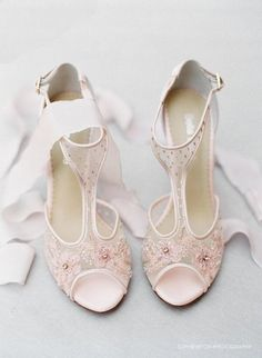 Pick up these Gorgeous Blush Nude Pink Illusion T Strap Beaded and Flower Embellished Wedding Shoes Bridal Heels Bella Belle Paloma Blush shoes available by BellaBelleShoe Ad Blush Shoes, Blush Wedding Shoes, Satin Shoes, Wedding Heels, Pink Shoes, Blush Bridal, Lace Shoes, Wedding Garters, Wedding Dresses