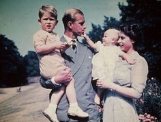 Picture of Princess Elizabeth with her husband Prince Philip Duke of Edinburgh and their children