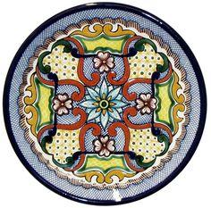 Tomas Huerta TalaveraPlate - Pattern 31 ♥️♣️♣️Talavera Mexican Pottery : More At FOSTERGINGER @ Pinterest 🔷🔹♣️