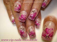 Aquarell Flowers, light purple by vipnailsmonika - Nail Art Gallery nailartgallery.nailsmag.com by Nails Magazine www.nailsmag.com #nailart