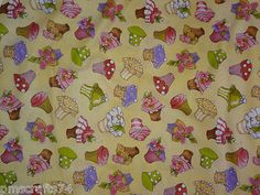 ebay fabric - Cupcakes