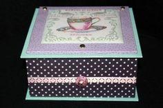 Boite en cartonnage Salon de thé
