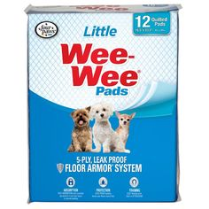 Four Paws Wee-Wee Little Dog Housebreaking Pads, 12 Pack ** Find out more details by clicking the image : Dog Litter and Housebreaking