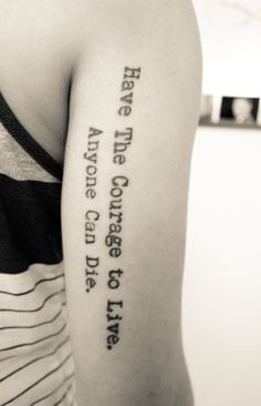 My way of forgetting the past. like the quote not the placement though