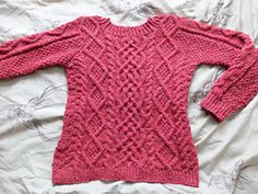Cabled sweater free knitting pattern