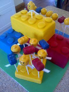 Lego Cake pops #cake #cakepops #lego