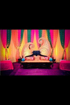 24 Gorgeous Wedding Stage Decoration Ideas & Themes That Will Leave You Speechless! 24 Gorgeous Wedding Stage Decoration Ideas & Themes That Will Leave You Speechless!This Wedding Season Let's Create Magic With Dazzling Wedding Hall Decorations, Marriage Decoration, Mehndi Stage Decor, Dholki Ideas, Bollywood Theme, Big Fat Indian Wedding, Indian Weddings, Desi Wedding, Wedding Mandap