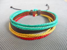 #Fashion leather #bracelet ropes bracelet men bracelet women bracelet girls bracelet Jewelry bangle made of ropes and leather cuff SH-2271