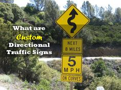 What are Custom Directional Traffic Signs?
