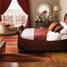 romantic setting -- testing gray and maroon bedroom Maroon Bedroom, Burgundy Bedroom, Bedroom Red, Home Bedroom, Bedroom Furniture, Bedroom Decor, Burgundy Bedding, Burgundy Decor, Brown Bedding