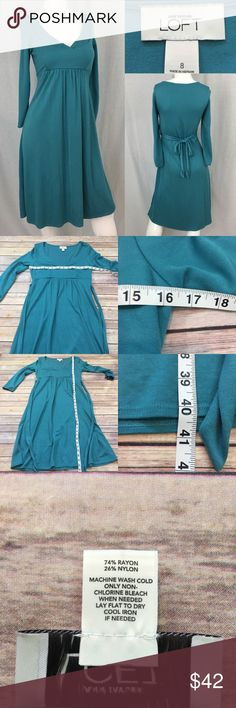Size 8 LOFT V-Neck Long Sleeve Empire Waist Dress • Measurements are in photos  • Material tag is in photos • Normal wash wear, no flaws • Long Sleeves  • Knee Length  • Stretch  C2/63  Thank you for shopping my closet! LOFT Dresses Long Sleeve