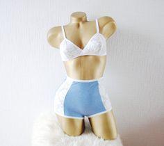Blue lingerie set  Bridal lingerie set  Boho lingerie set