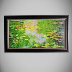 Water Lily 1 by Oscar-Claude Monet Framed Painting Print on Wrapped Canvas