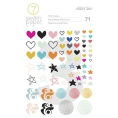 Puffy Shape Stickers at @studio_calico