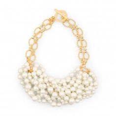 Pearl Cluster Chain Necklace