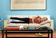 Squeeze your butt and slowly lift your right leg 50 to 60 degrees, to hip level, as shown. Then take... - Provided by Redbook