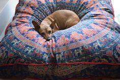Huge mandala tapestry dog bed cover, mandala cushion cover, boho floor pillow cover, bohemian floor cushion, boho decor, boho dog bed