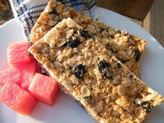 Gluten and Dairy Free Granola Bars                         WF