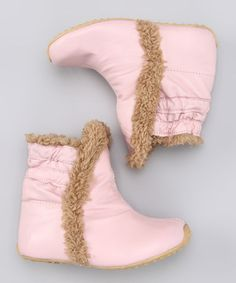 Take a look at this Pink Winter Boot by SKEANIE on #zulily today!