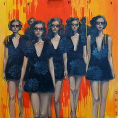 "Saatchi Online Artist Pascale Taurua; Painting, ""Défilé"" #art"