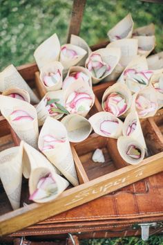 book pages wrapped up to create a cone for flower petal tossing- cute! http://www.weddingchicks.com/2014/03/19/exquisite-wedding-in-tuscany/
