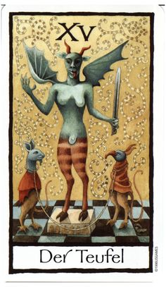 The Devil from the Old English Tarot