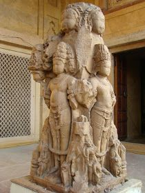 Pillar in the form of Lord Brahma and Lord Vishnu Pratihara Dynasty, Century AD,Ajmer Museum. Indian Temple Architecture, Art And Architecture, Ancient Architecture, Buddha Life, Apocalypse Art, Lord Shiva Painting, Lord Vishnu, Hindu Deities, Greek Art