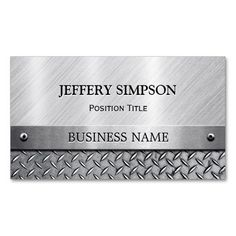 Modern Brushed Metal Look - Fully Customizable Business Card Template