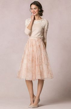Millie sweater and Lucy print skirt Jenny Yoo Collection – New for 2016!   Fabulous Frocks of Atlanta