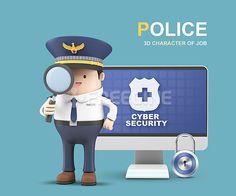 사람, 오브젝트, 컴퓨터, 그래픽, 안전, freegine, 3D, 경찰, 사이버, 캐릭터, 직업캐릭터, 에프지아이, FGI, FUS076, 3d직업캐릭터II015, fus076_015 #유토이미지 #프리진 #utoimage #freegine  17745014