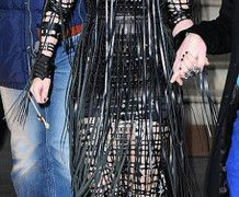 Lady Gaga wearing Cindy Zhang, BA (Hons) Cordwainers Fashion Bags and Accessories: Product Design and Innovation