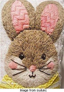 Needlepoint bunny - what a gorgeous face!!!! xoxo