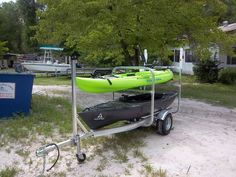 My Hurricane And Old Town Kayaks On The Trailer I Put