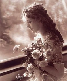 """Mary Pickford-film star """"talkies""""-Gram used to love her the best and play piano for at the """"opera House"""" back home..."""