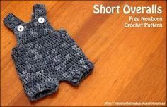 Free Short Overall Crochet Pattern by MammaThatMakes. Perfect photography prop!