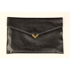 Vintage Black Envelope Clutch by Shirl Miller Faux Snakeskin Design ($15) ❤ liked on Polyvore featuring bags, handbags, clutches, faux-leather handbags, flap handbags, fake purse, python purse and snake print purse