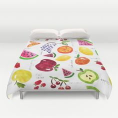 Fruit Salad Yummy Yummy Duvet Cover by Noonday Design | Society6