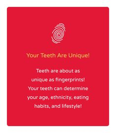 Your teeth are as unique as your fingerprint! What do your teeth say about you? #identiteeth #deltadental