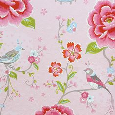 Discover the Pip Studio Birds in Paradise Wallpaper - 313010 Pink at Amara