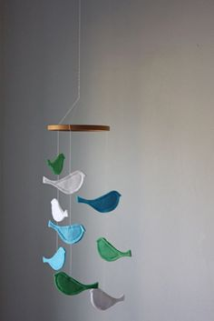 Bird Mobile from littlenestbox on Etsy.