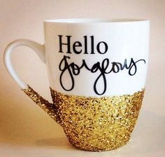 O Gorgeous Hand Glittered Coffee Mug Made By Boundtobeloved