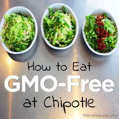 How To Eat GMO-Free At Chipotle-That's why I'm excited that Chipotle is one of the few restaurants that's being transparent about their menu as it pertains to GMOs, genetically modified ingredients.