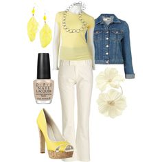 Outfit I'm thinking of wearing for family portraits. Now if I can convince myself I need yellow heels...