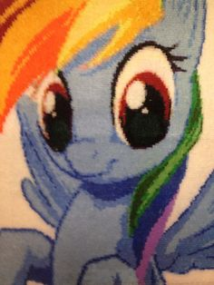 My Little Pony Rainbow Dash Handmade Rug By SailorSmith On Etsy, $650.00