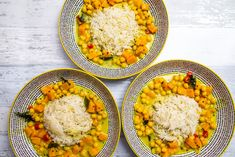 For a slightly different take on this scrumptious dish, try with lentils instead of chickpeas. Coconut Basmati Rice, Coconut Milk, Tilda Rice, Tamarind Recipes, Lentils, Chickpeas, Tamarind Paste, Gluten Free Rice, Curry Leaves