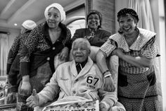 Nelson Mandela with daughters and ex-wife Winnie.