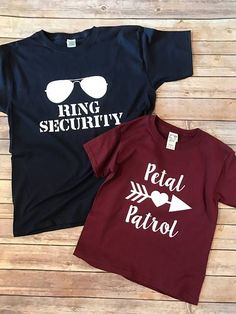 Ring Security & Petal Patrol shirt set Wedding Rehearsal