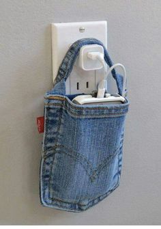 Space saver. Wall charger pouch