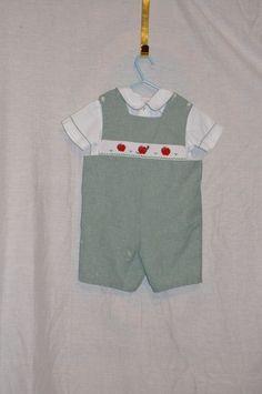 "Baby Boys's Boutique ""Anavini Two Piece Smocked Romper/Jon Jon Size 3 #Anavini #Dressy"